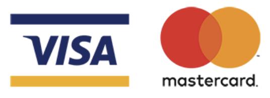 Métodos de pago con tarjeta Visa y Mastercard