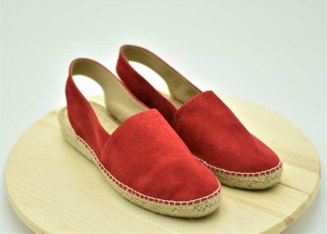 Alpargata plana color Rojo