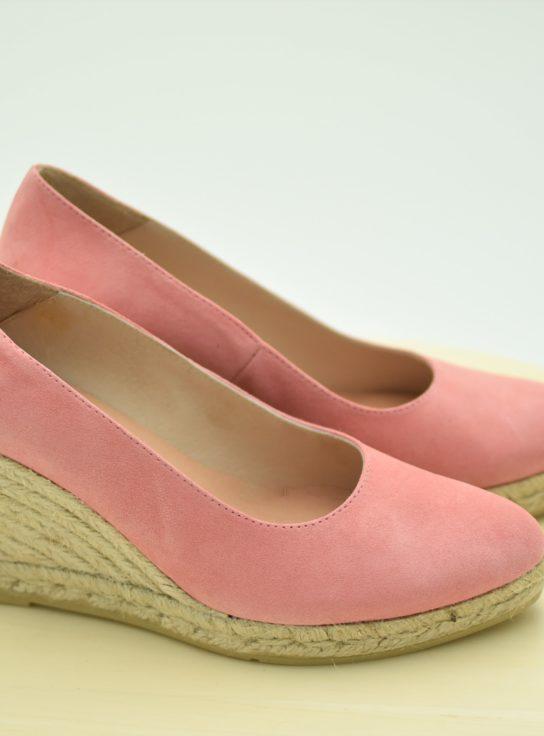Cuña de esparto de salón color Rosa
