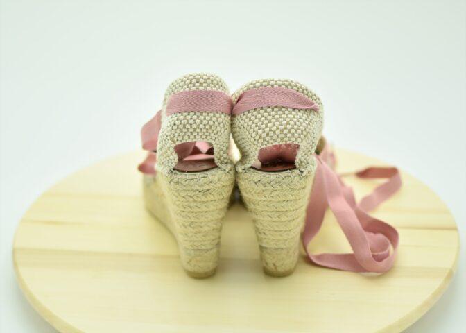 Valencianas de esparto rosa